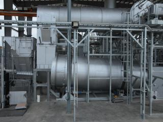Counter-current rotary kiln